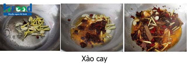 cách nấu nước lẩu gà cay