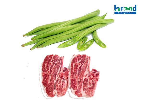 thịt cừu xào đậu cove ngon