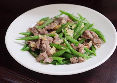 thịt cừu xào đậu cove