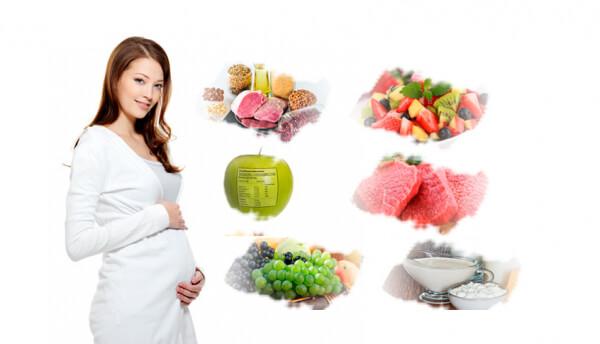 dinh dưỡng cho bà bầu theo tháng