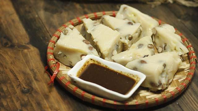 pha tương bần chấm thịt dê với củ cải trắng