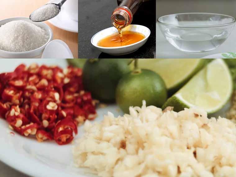 Cách làm nước mắm tỏi ớt